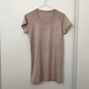 Lululemon Beige Pink Swiftly Tech Short Sleeve Top